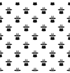 Rabbit ears appearing from magic hat pattern vector image vector image