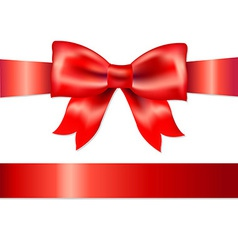 Red Gift Satin Bow vector image vector image