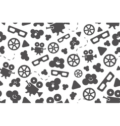 Seamless pattern of movie design elements vector image