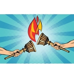 Torches torch relay vector image vector image
