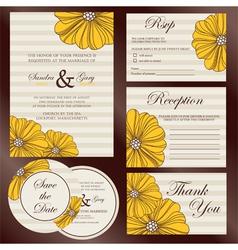 wedding cards set copy vector image