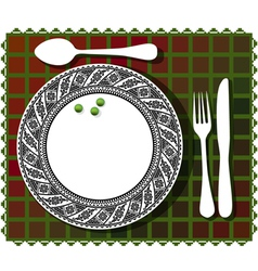 beans on plate vector image