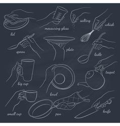 Hands outline vector image