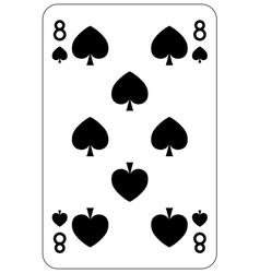 Poker playing card 8 spade vector image