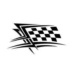 Racing sports tattoo vector image vector image