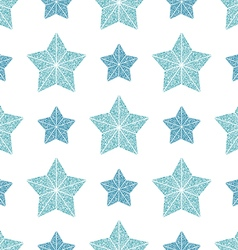 seamless pattern blue stars vector image vector image