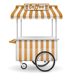 street food cart coffee vector image vector image