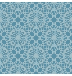 Blue seamless pattern reminiscent of frozen glass vector image vector image