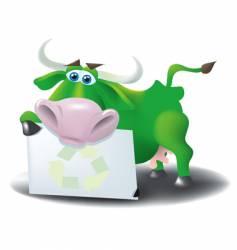 eco cow vector image vector image