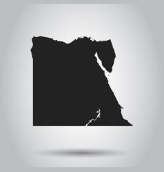 egypt map black icon on white background vector image