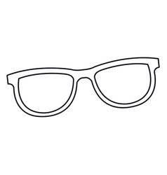 glasses accessorie fashion element line vector image