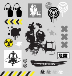 grunge graphic objects vector image vector image
