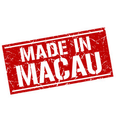 Made in macau stamp vector