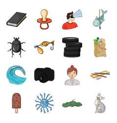 Monster animal cat and other web icon in cartoon vector