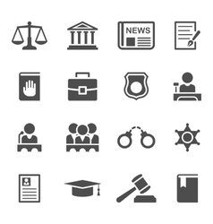 Set of law and justice icons vector image