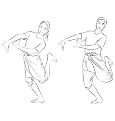 The Thai national dances vector image vector image