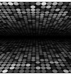 Abstract black white and grey disco circles vector image vector image