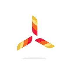 Abstract fun propeller logo wind turbine vector image vector image