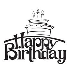 happy birthday lettering vector image