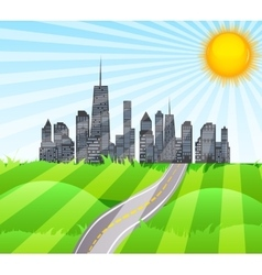 Solar Road in the City of Nature vector image