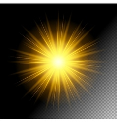 Transparent Shine Effect vector image