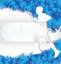 watercolor running vector image