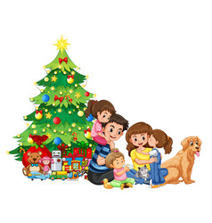 a family gathering on christmas vector image