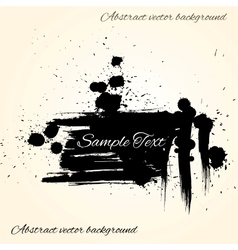 Abstract artistic ink splashes background of black vector image