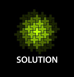 abstract cross sphere icon solution symbol vector image