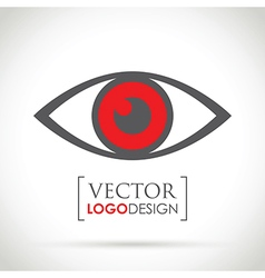 Abstract eye icon red vector