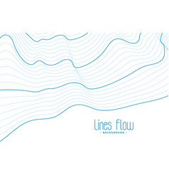 Abstract white background with blue contour lines vector