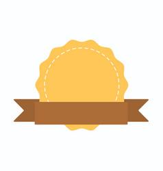 badge ribbon banner vector image