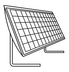 battery solar panel icon outline style vector image