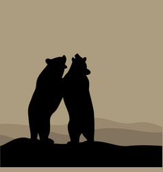 Bears playing vector