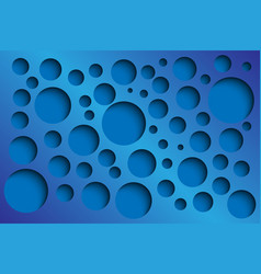 Blue abstract perforated background vector