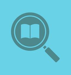 book search glyph color icon vector image