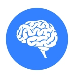 Brain icon in black style isolated on white vector image