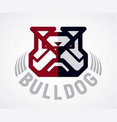 Bulldog head logo vector