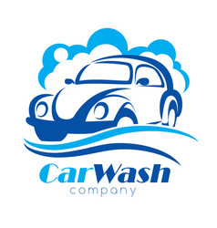 car wash stylized symbol design elements vector image