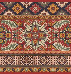 caucasian style antique rug motifs patchwork vector image
