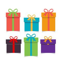 christmas set of gift boxes vector image