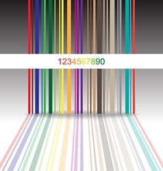Colorful barcode vector image
