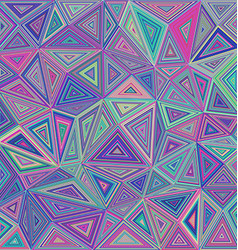 Colorful concentric triangle mosaic background vector