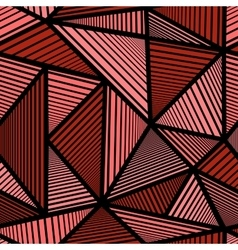 Colorful pattern with red triangle vector