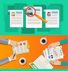 Concept of searching professional staff vector
