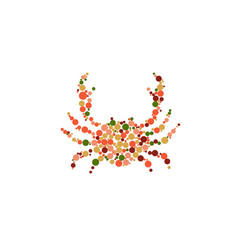 crab icon vector image