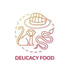 Delicacy food red gradient concept icon vector