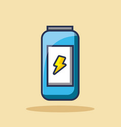Energy drink can beverage bolt icon vector