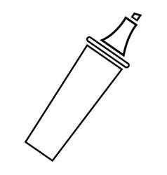 Felt tip pen icon outline line style vector