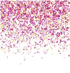 Festive Celebration Violet Confetti Isolated on vector image
